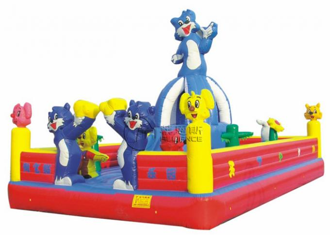Customized Inflatable Bounce Castle Naughty Cat Themed Bouncy Bounce Inflatables 0