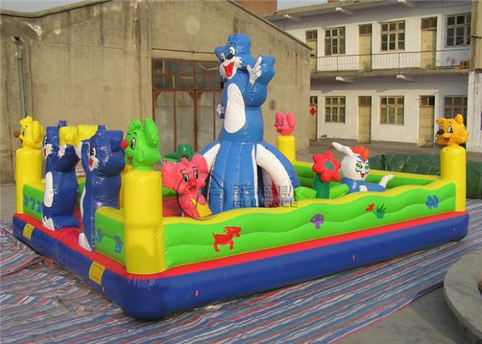 Customized Inflatable Bounce Castle Naughty Cat Themed Bouncy Bounce Inflatables 1