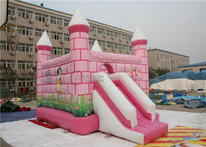 Central City Bounce House Slide Combo Pink Inflatable Amusement Park 1