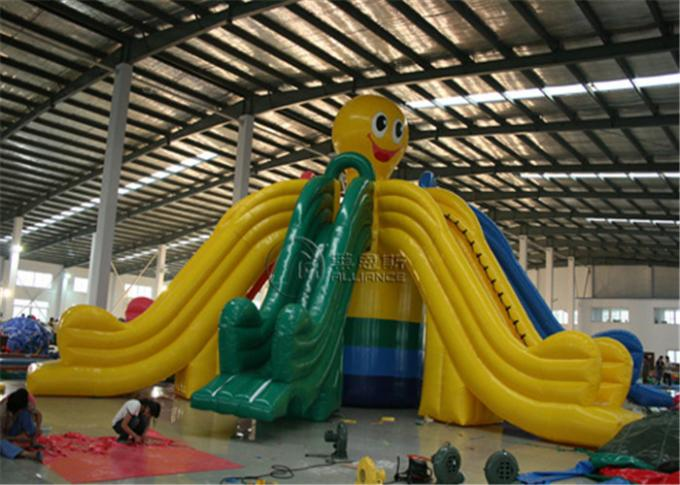Facinating Commercial Show Inflatable water Slide Motorcross For Amusement Park 0