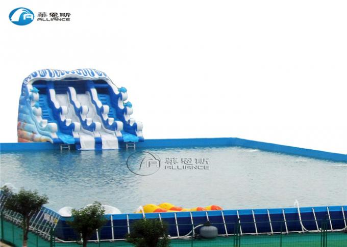 Square Metal Frame Pool Giant Above Ground Pools With Metal Frame
