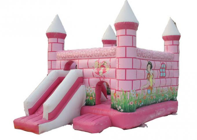 Central City Bounce House Slide Combo Pink Inflatable Amusement Park 0