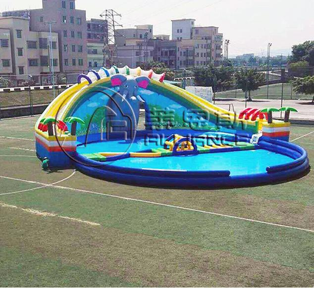 New style elephant water paradise water park inflatable water slide 2
