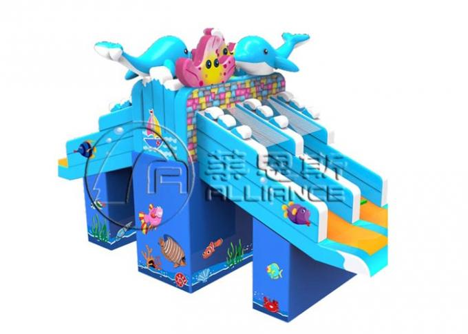 Gurgling Aquarium Commercial Inflatable Water Slides Kids Blow Up Water Slide 1