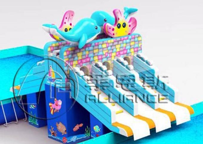 Gurgling Aquarium Commercial Inflatable Water Slides Kids Blow Up Water Slide 2
