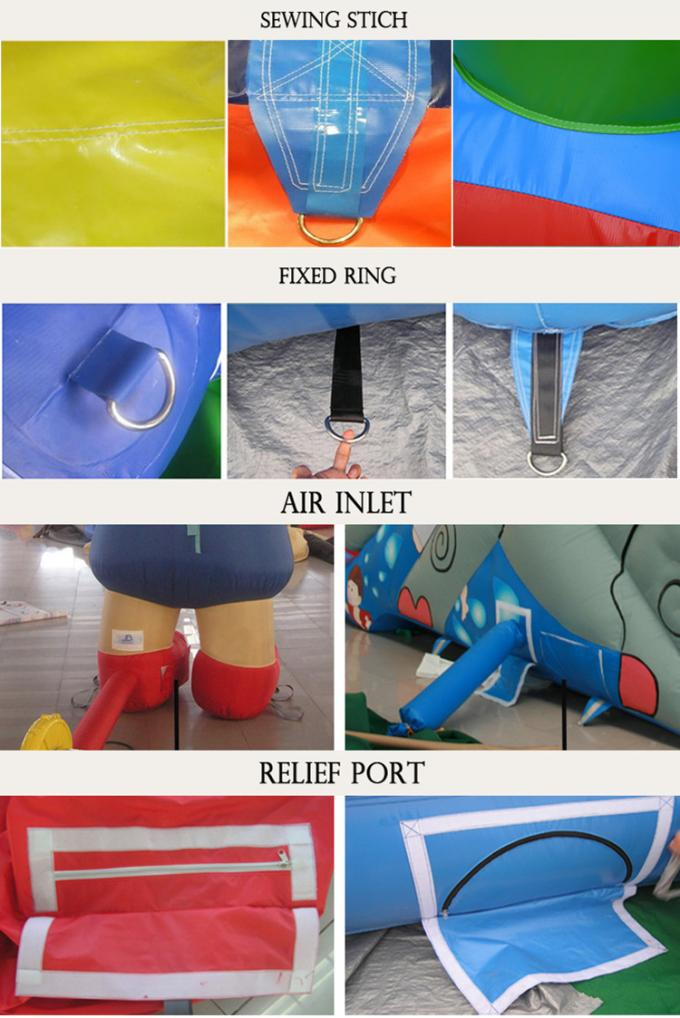 PVC Inflatable Jumping Bouncer Inflatable Bouncy Castle Lead Free Double Stitching 2