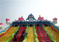 amusement park integrated giant combo bouncer inflatable shark slide supplier