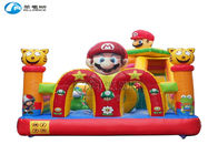 new design small inflatable super mario slide bouncy castle with slide supplier