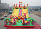outdoor slide equipment 16x9m Dragon Baby giant inflatable slide supplier