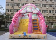 kids inflatable indoor outdoor playground slide KT cat inflatable slide supplier