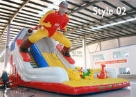 inflatable snowman slide and bounce mat supplier