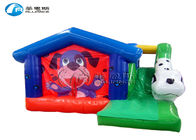 China PVC Tarpaulin Puppy Land Bounce House Slide Combo Colorful With Slide factory