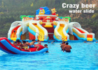 Crazy Beer Giant Commercial Inflatable Water Slides ROHS Certification supplier