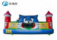top sales inflatable  bouncing castle, blue cat paradise inflatable castle, mini-inflatable bouncer for backyard supplier