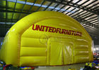 1000D Yellow Color Inflatable Outdoor Tent Double Stitching And Heat Sealing