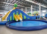 lotus and frog water slide largest inflatable water slide with round swimming pool supplier