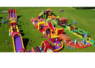 China Outdoor Bouncy Castle Obstacle Course Commercial Grade Customized For Kids factory