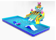 China Seafaring Commercial Inflatable Water Slides Customized With Frame Pool factory