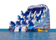 China water park inflatable surf water slide with swimming pool sold factory