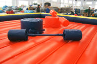 Colorful Interactive Inflatable Obstacle Course PVC Inflatable Gladiator Joust With Sticks