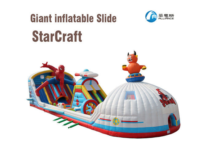 inflatable starcraft paradise bounce and slide combo giant inflatable slide supplier