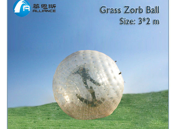 land zorb ball grass zorb for park outdoor sport inflatable toys supplier