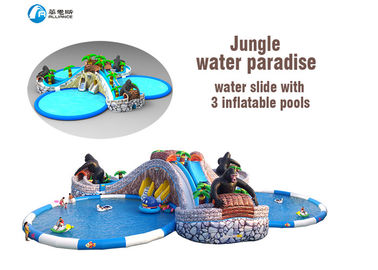 PVC Tarpaulin Commercial Pool Water Slides Fashion Giant Durable Waterproof