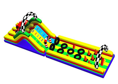 Racing Car Inflatable Obstacle Course Blow Up Water Obstacle Course