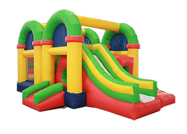 Pvc Amusing Bounce House Slide Combo Commercial Inflatables With 2 Slides