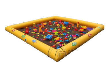 Customize Commercial Inflatable Water Pool Inflatable Pool Floats With Soft Play Sands