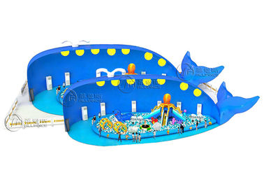 Custom Design Inflatable Sports Games Blue Whale Ocean Ball Paradise Beach