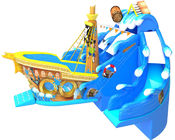 Large Size Commercial Inflatable Water Slides , Bouncy Pirate Ship Water Slide