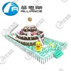 Waterproof Inflatable Obstacle Course Large Size Cake Pattern Anti UV No Fading